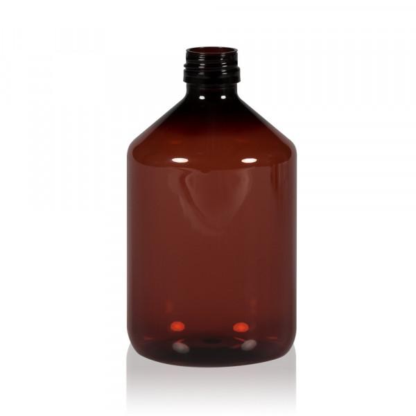 500 ml fles Pharma PET bruin 28.410