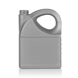 5000 ml fles Oil HDPE zilver