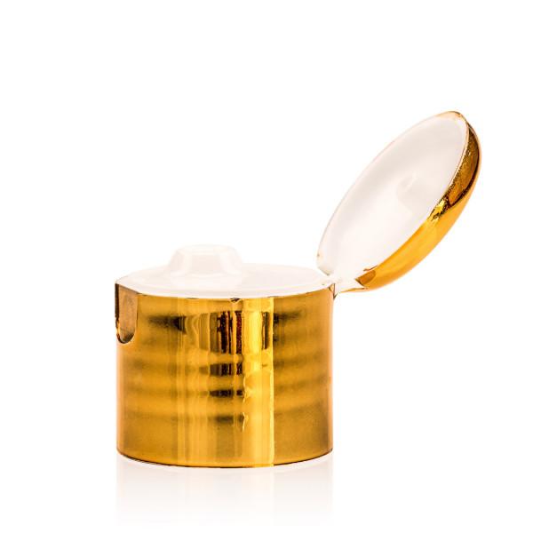 Klepdop PP goud/naturel 24.410