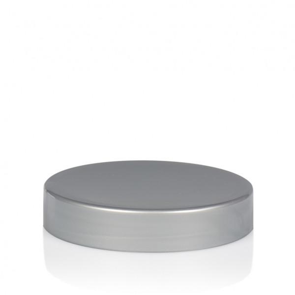 Schroefdeksel Glossy sharp 25 ml PP zilver
