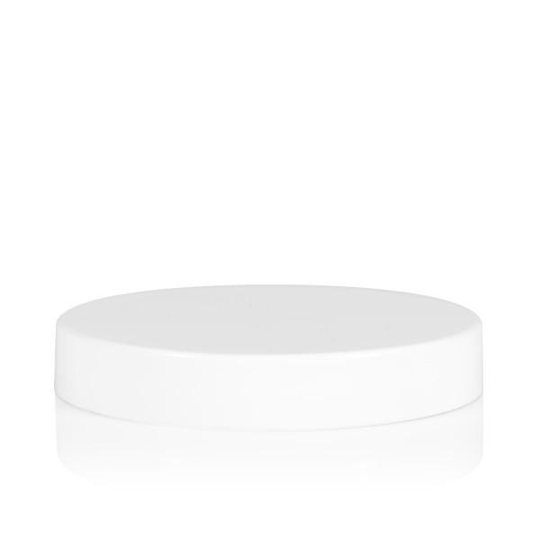 Schroefdeksel transparant cylinder 70 mm wit