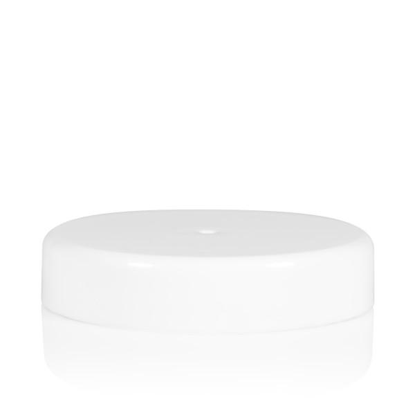 Schroefdeksel transparant cylinder 82 mm wit