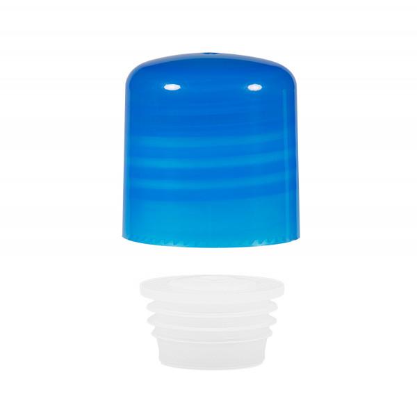 Schroefdop met plug PP blauw 24.410