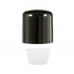 Schroefdop met plug PP chroom/naturel 24.410
