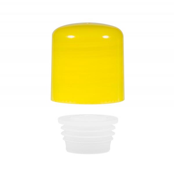 Schroefdop met plug PP geel 24.410