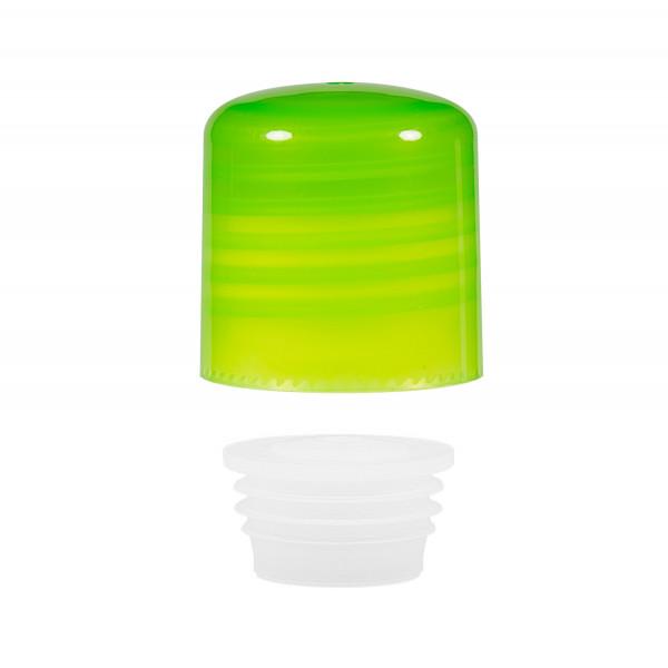 Schroefdop met plug PP groen 24.410
