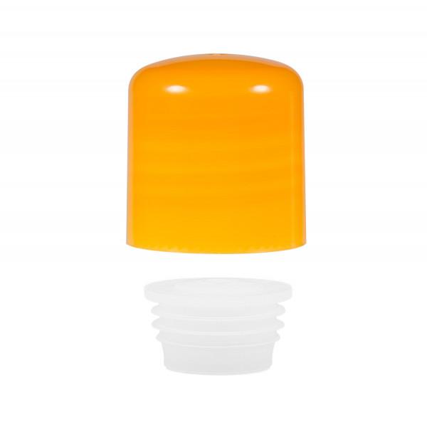 Schroefdop met plug PP oranje 24.410