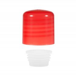 Schroefdop met plug PP rood 24.410