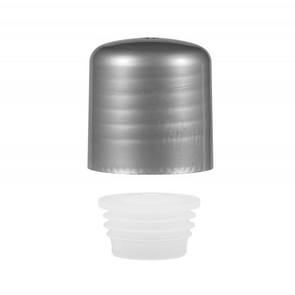 Schroefdop met plug PP zilver 24.410