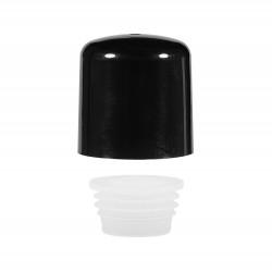 Schroefdop met plug PP zwart 24.410
