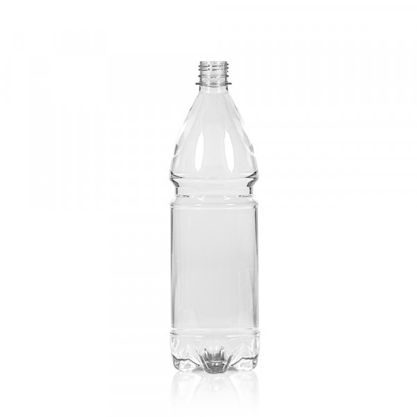 1000 ml fles Water PET transparant 28PCO